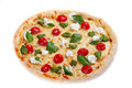 Italian pizza on white background Royalty Free Stock Images