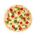 Italian pizza on white background Stock Image