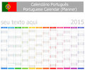Italian planner calendar with vertical months on white background Stock Images
