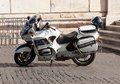 Italian police motorcycle Royalty Free Stock Images