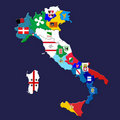 Italian provinces Royalty Free Stock Photography