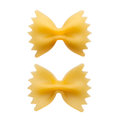 Italian raw pasta farfalle, bow tie, butterfly Royalty Free Stock Photo