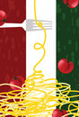 Italian Restaurant's Wallpaper Royalty Free Stock Photography
