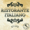 Italian restaurant vintage banner for Royalty Free Stock Images