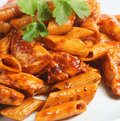 Italian Rigatoni Pasta Meal Stock Images