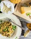 Italian risotto with mushrooms Royalty Free Stock Photo
