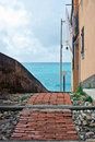 Italian Riviera alley Royalty Free Stock Photography