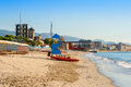 Italian riviera beach at savona liguria italy Stock Photo