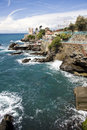 Italian riviera coast Stock Photos