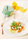 Italian salad made of vegetables on the plate Stock Image