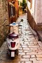 Italian scooter parked in Rovinj
