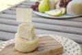 Italian sheep cheese- salted ricotta cheese Royalty Free Stock Photo