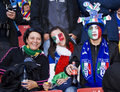 Italian Soccer Supporters - FIFA WC Royalty Free Stock Photo