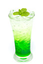 Italian Soda with mint leaf Stock Images