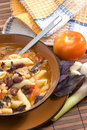 Italian soup with beans and macaroni Royalty Free Stock Image
