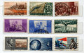 Italian Stamps Royalty Free Stock Photography