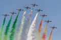 The Italian team Frecce Tricolori Royalty Free Stock Photo