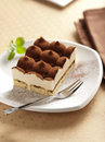 Italian tiramisu cake Stock Photos