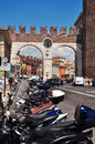 Italian traffic, Verona Royalty Free Stock Photography