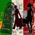 Italian Travel Flyer Royalty Free Stock Photos