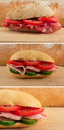 Italian/Tuscany panin - sandwich with prosciutto Royalty Free Stock Photo