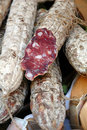 Italian varzi salami Stock Photo
