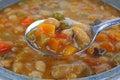 Italian Vegetable Bean Soup Spoonful Royalty Free Stock Photos