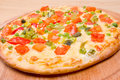 Italian vegetables  pizza.Neapolitano ,Close-up Royalty Free Stock Images