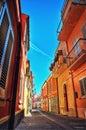 Italian Village Alley in Summer Royalty Free Stock Photo