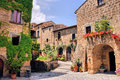 Italian village picturesque corner of a quaint hill town in italy Royalty Free Stock Photo