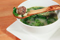 Italian Wedding Meatball Soup Royalty Free Stock Images