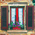 Italian Window Royalty Free Stock Photo