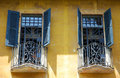 Italian windows Royalty Free Stock Photo