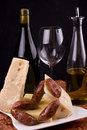 Italian wine and cheese Royalty Free Stock Photo