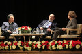 Italian writer umberto eco in istanbul turkey april met with their fans and held a discussion panel moderated by prof patrizia Royalty Free Stock Images