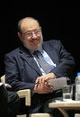Italian writer umberto eco in istanbul turkey april met with their fans and held a discussion panel moderated by prof patrizia Royalty Free Stock Photos