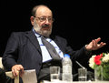 Italian writer umberto eco in istanbul turkey april met with their fans and held a discussion panel moderated by prof patrizia Royalty Free Stock Photography