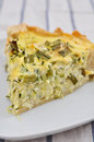 Italian zucchini crostata home made Royalty Free Stock Image