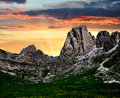 Italy Alps in the sunset Royalty Free Stock Photography