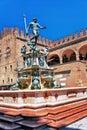 Italy bologna the fountain of Neptune Royalty Free Stock Photo