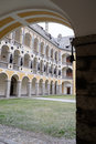 Italy bressanone the inner courtyard of the museum diocesan bishop s palace glimpse Stock Images