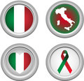 Italy Buttons Royalty Free Stock Photo