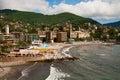Italy, city on seacoast Royalty Free Stock Photo