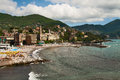 Italy city on seashore the the mediterranean sea Royalty Free Stock Photography