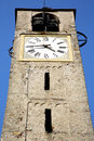 Italy lombardy the santo antonino old brick tower st in church closed wall Stock Images
