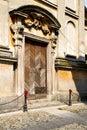 Italy lombardy the santo antonino old brick tower st in church closed wall Royalty Free Stock Photos