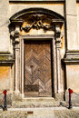 Italy lombardy in the santo antonino old church close closed brick tower wall Royalty Free Stock Photography