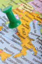 Italy in map Stock Photography