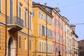 Italy modena emilia romagna region colorful mediterranean architecture Royalty Free Stock Photos
