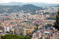 Italy naples view of the city on top landscape Stock Photos